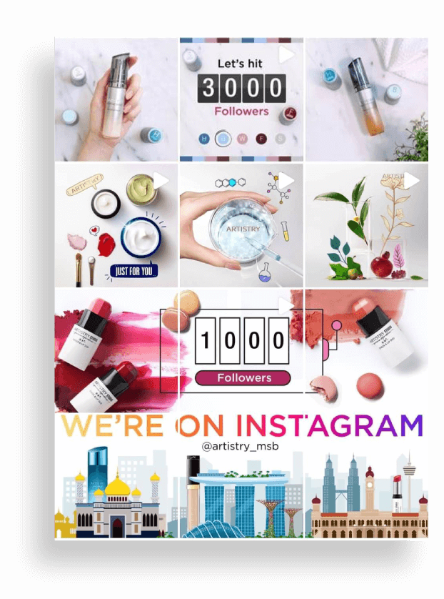 ARTISTRY Instagram Grid
